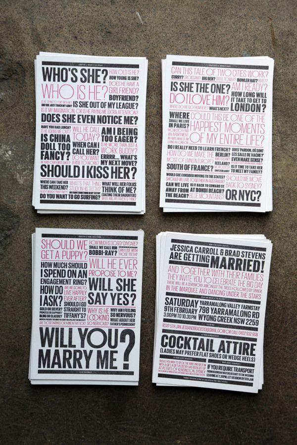 Brad & Jess' Wedding Invitation by Jason Little, via Behance