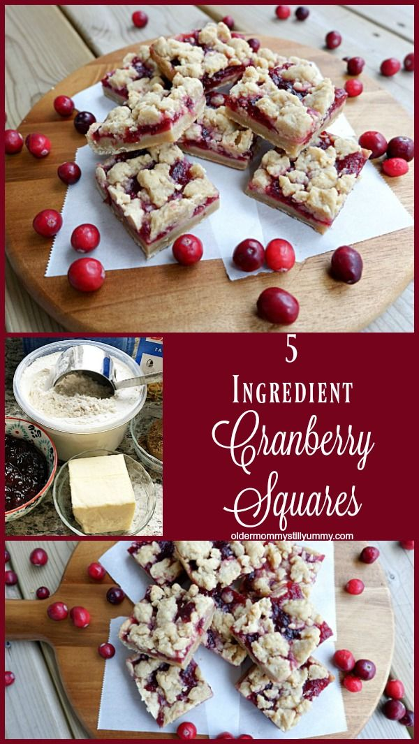 Simple to Make Cranberry Squares Recipe Cranberry bars