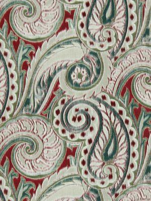 Robert Allen; Boston Manor in red earth; 100% linen