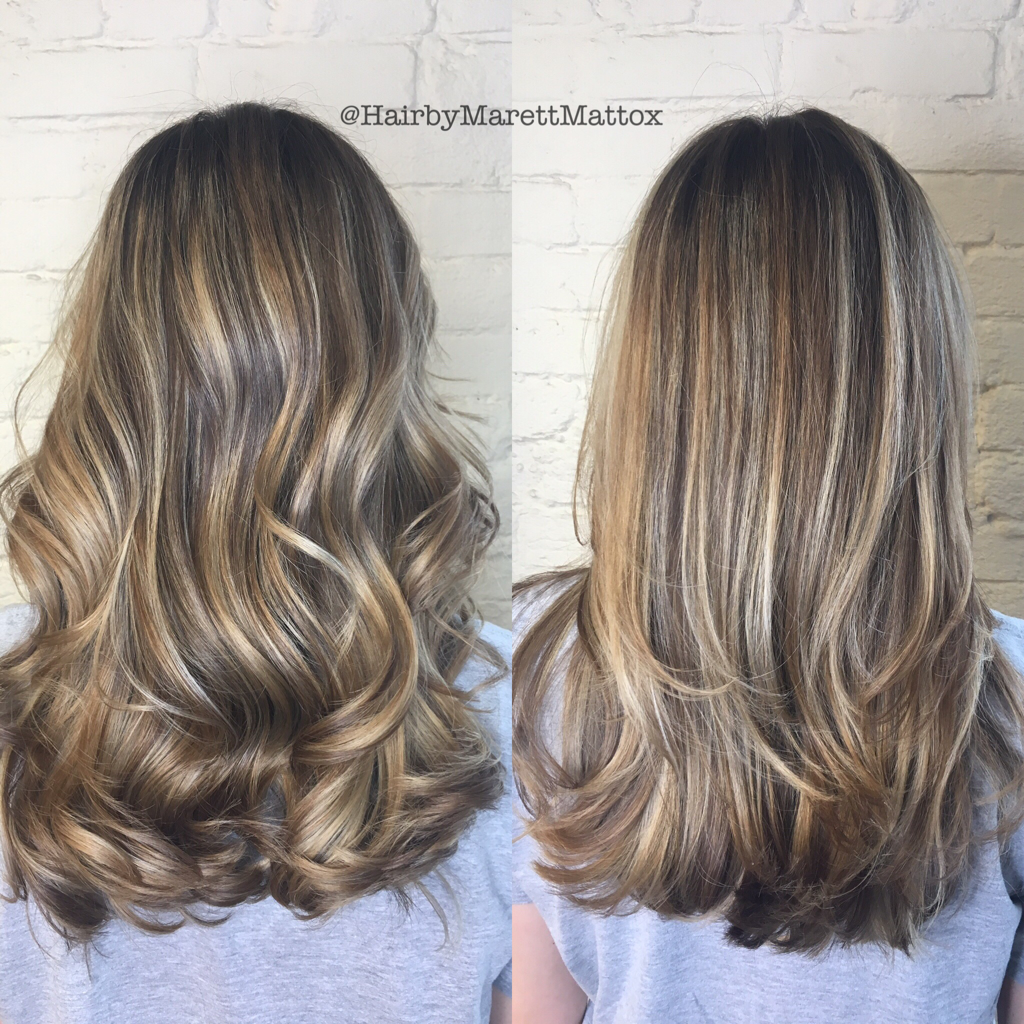 Straight Vs Curly Baby Lights And Balayage Hair Color For Morena Skin Light Curls Hair Styles