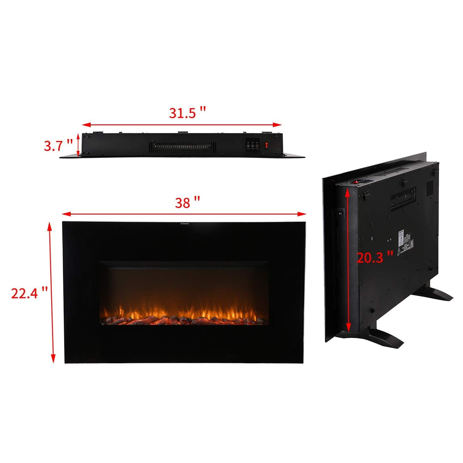 Amazon Com Hyd Parts 38 Inch Electrical Fireplace Stove With
