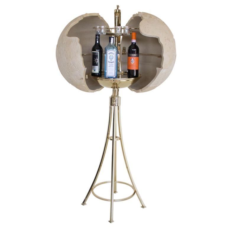 A 1970 S Globe Bar On Stand 1stdibs Com Globe Bar Dry Bars Globe