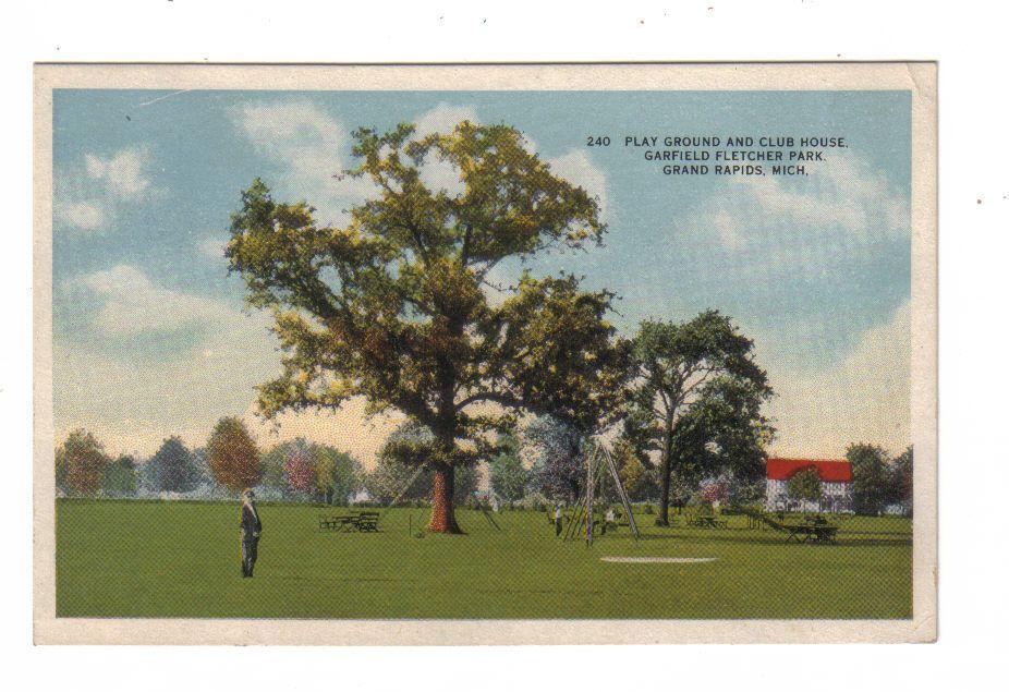 Garfield Park Around 1910 Rare View Grand Rapids Grand Rapids Michigan Michigan