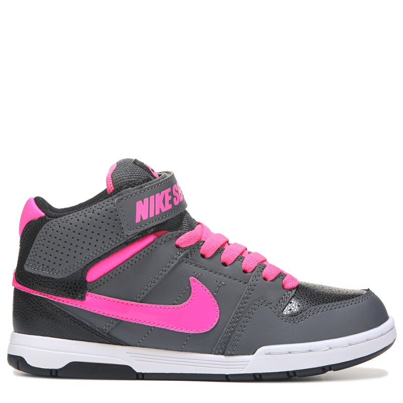 1840d845c5f3 Nike Kid s Nike SB Mogan Mid 2 Skate Shoe Pre Grade School Shoes (Dark Grey  Black Pink)