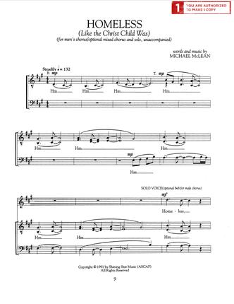 Homeless (Sheet Music Download) | Choir | Sheet music pdf, Music