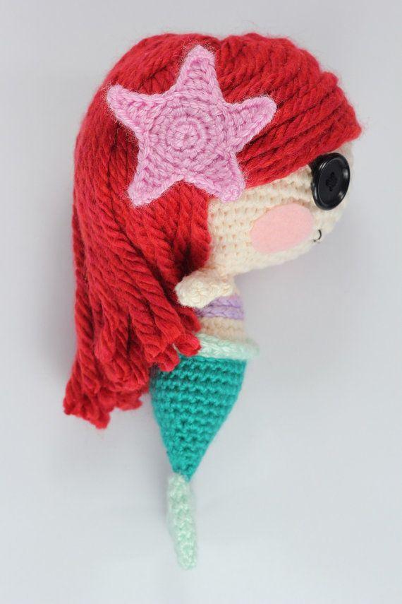 PATTERN: Mermaid Crochet Amigurumi Doll | llaveros | Pinterest ...