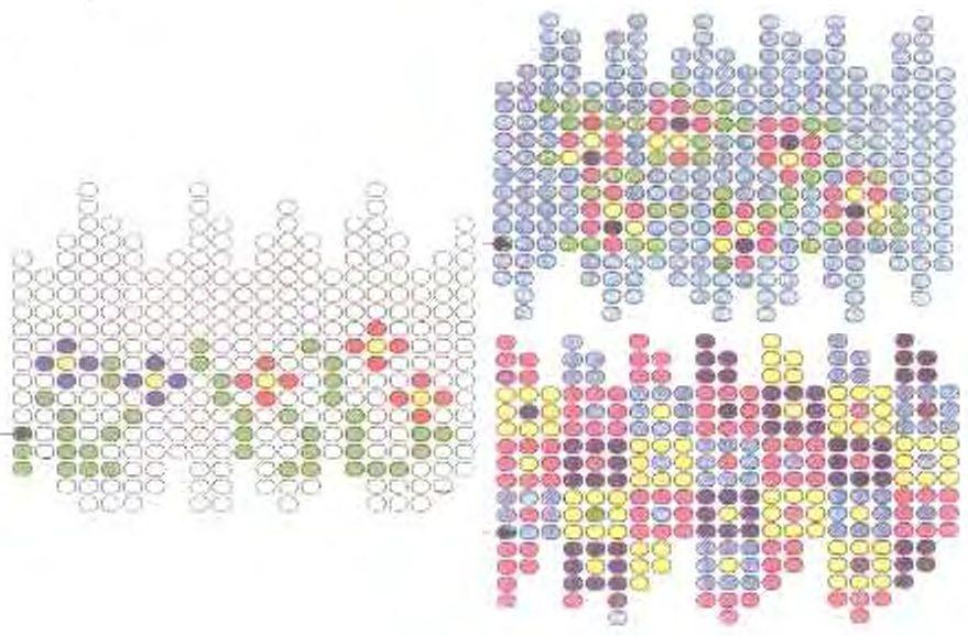 Schemat oplotu z koralików.