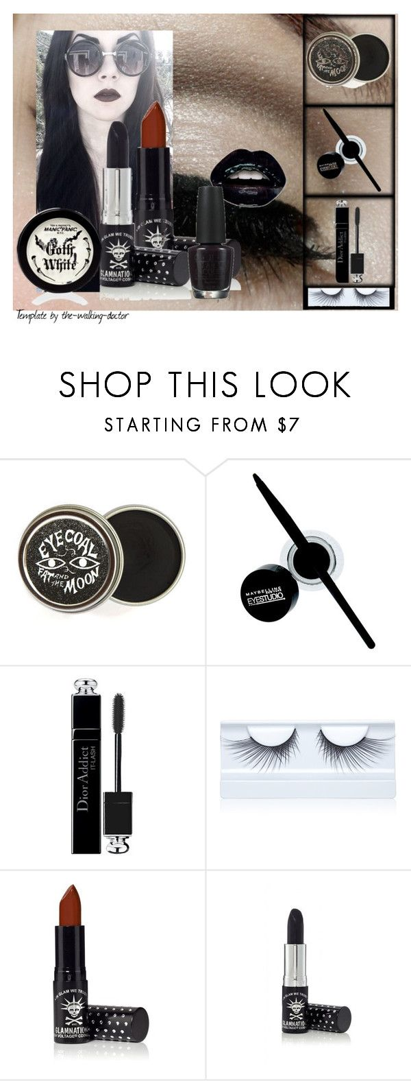 """""""Set #1351 - My Beauty Mode"""" by the-walking-doctor ❤ liked on Polyvore featuring beauty, Maybelline, Christian Dior, Gorgeous Cosmetics, Manic Panic and OPI"""