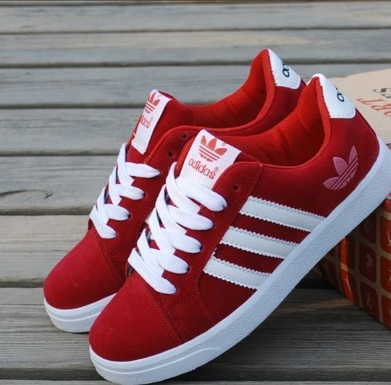 Red Adidas Sneakers Adidas Shoes Pinterest Adidas Shoes