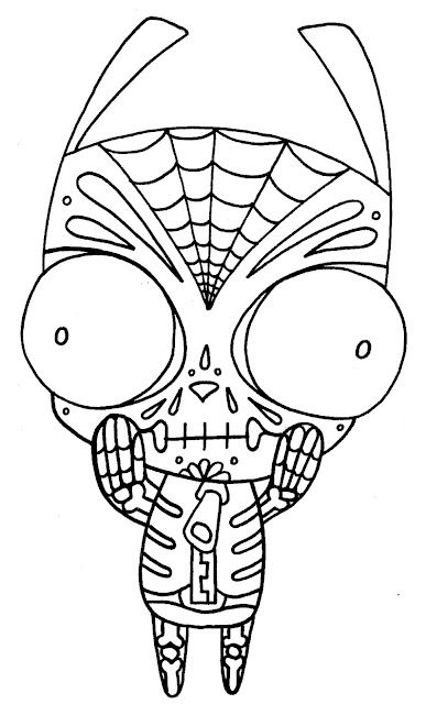yucca flats nm coloring pages dia de los muertos themes by carolyn curtis aka