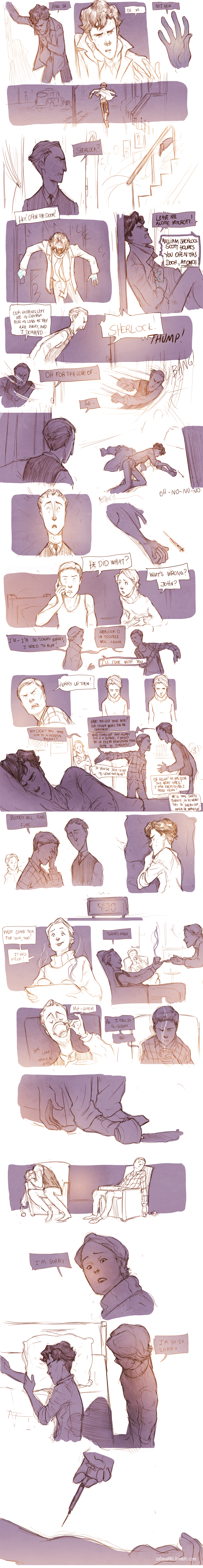 Teen Sherlock - The sign of three Pt2 by DrSlug on deviantART. No, I do not have tears streaming down my face, what are you talking about?