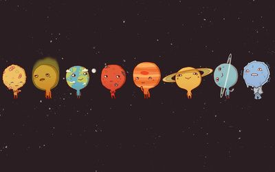 Cute Planets Hd Wallpaper Cute Wallpapers For Computer Desktop Wallpapers Tumblr Wallpaper Notebook