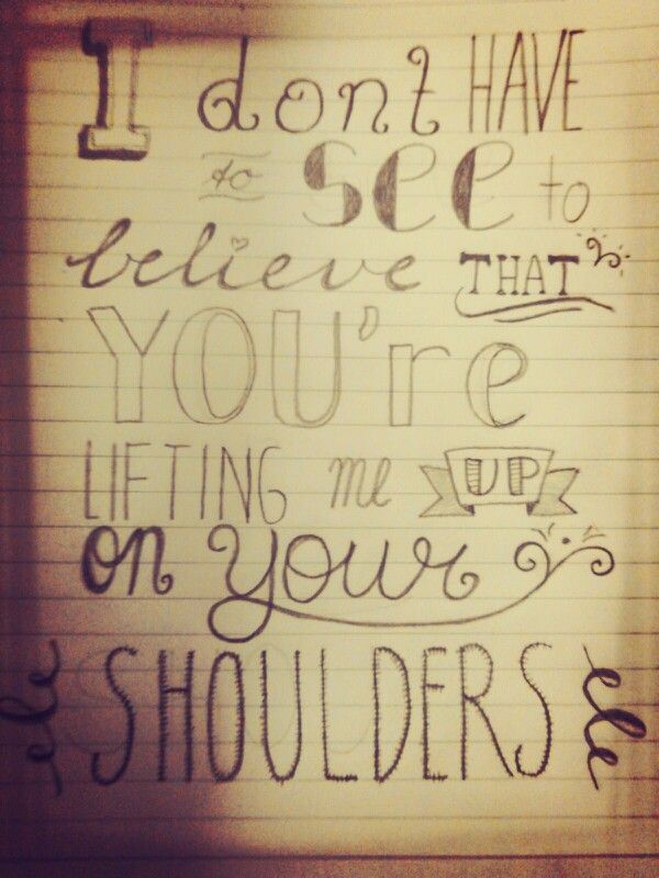 For King & Country - Shoulders | Christian Song Lyrics | Pinterest ...