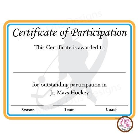 Printable Sports Certificates Printables  Max  Otis Designs  Max