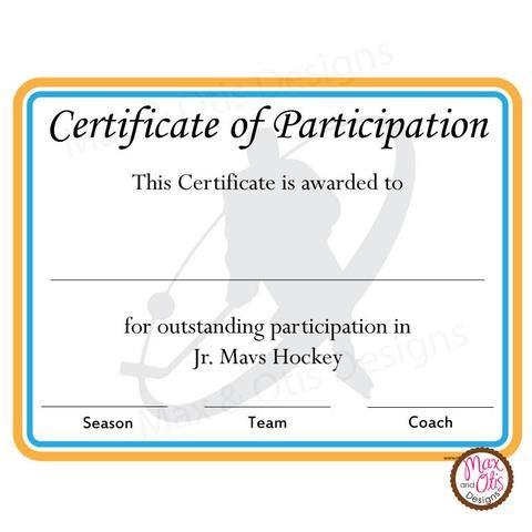 Printable Sports Certificates Printables  Max  Otis Designs  Max