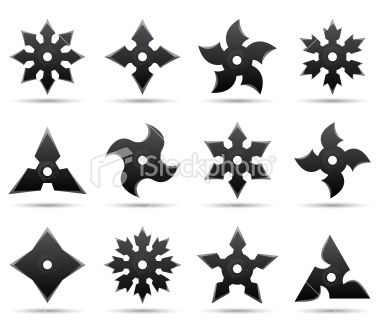 Twelve Different Ninja Stars En 2020 Armas Ninja Espadas Y Dagas