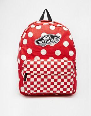 vans polka dot backpack