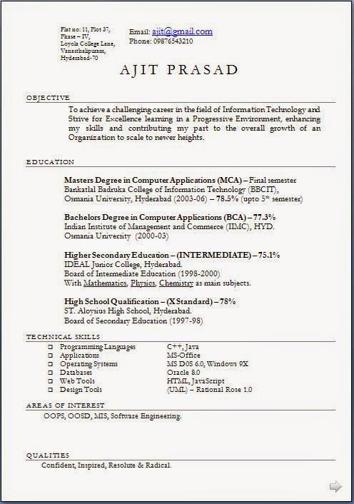 Good Resume Objective Examples Sample Template Example Of