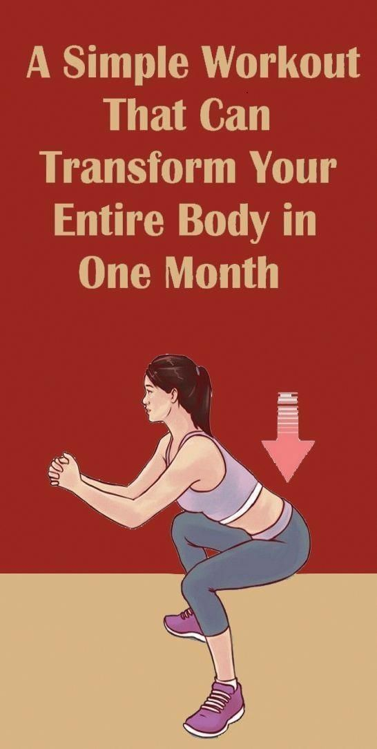 A Simple Workout That Can Transform Your Entire Body in One Month #athletenutrition