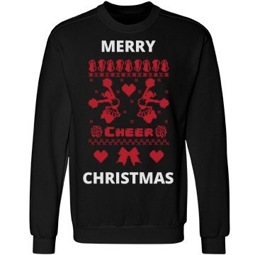 Cheerleader merry christmas | Custom ugly cheer merry christmas sweater.