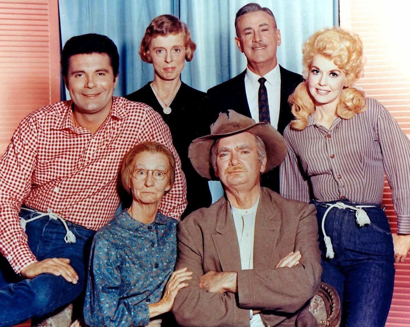Jethro, Miss Jane, Mr Drysdale, Elly May, Granny, Jed Clampet