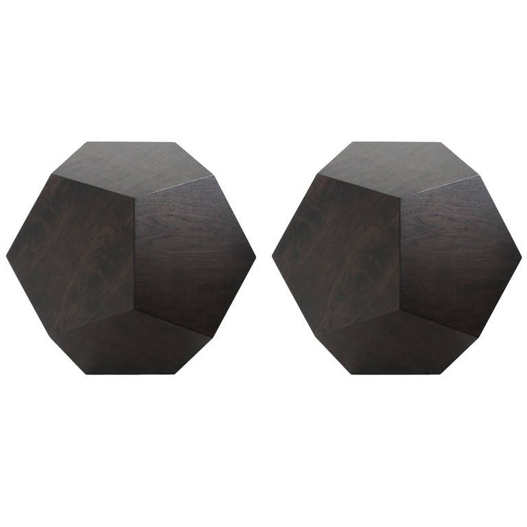 Dodecahedron Side Table In Walnut By Thomas Hayes Studio. Modern End Tables Amazing Design