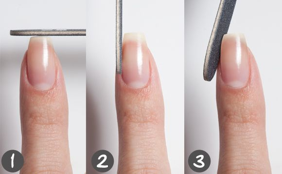 Curved Nails How To File