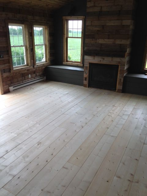 We Chose To Do Pine 1 10 S We Went Back And Forth Between Laminate Faux Wood Tile And Pine And Finally Rustic Flooring Faux Wood Tiles Wood Plank Flooring