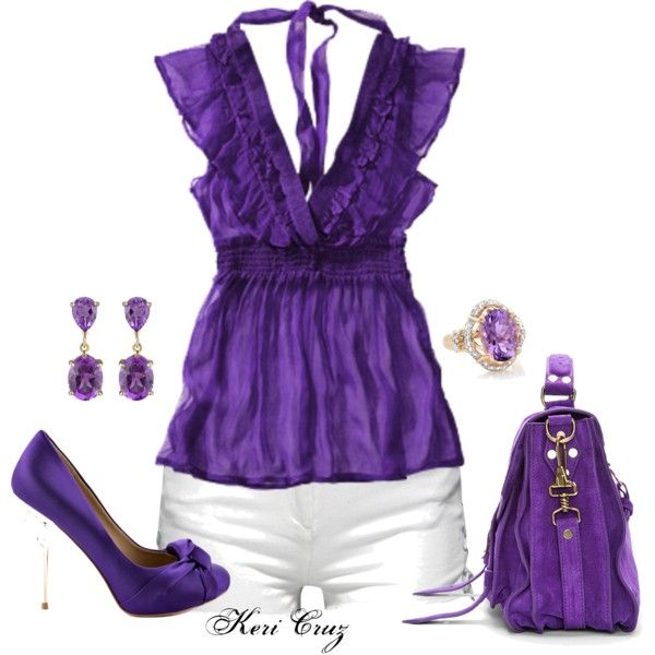 Purple Perfection, created by keri-cruz on Polyvore