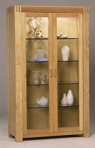 Oak 2 Door Display Cabinet Projetos De Carpintaria Simples