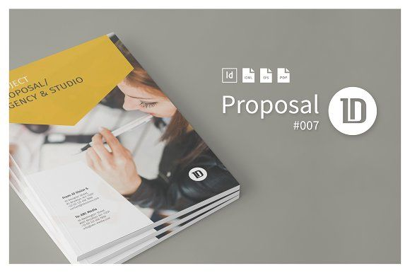 Project Proposal Template 008 by ID Vision Studio on @creativemarket