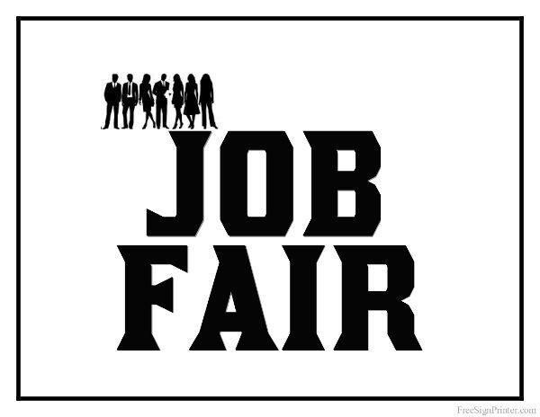 Printable Job Fair Sign Job Fair Job Signs