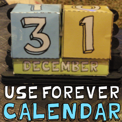 X Papercraft Perpetual Calendars Step How To Make A Paper