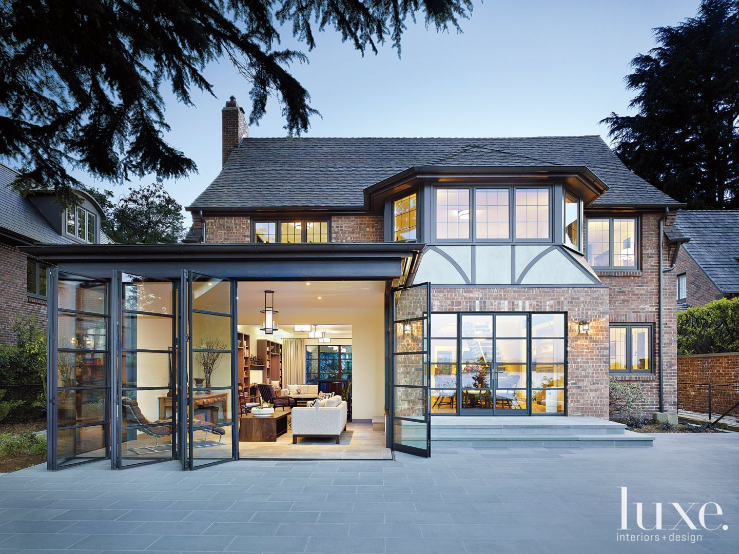 Transitional Neutral Tudor Exterior With Steel Windows Tudor House Tudor Style Homes Seattle Homes