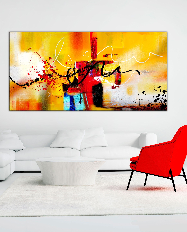 Sztuka Nowoczesna Do Białego Salonu Obrazy Abstrakcyjne Ręcznie