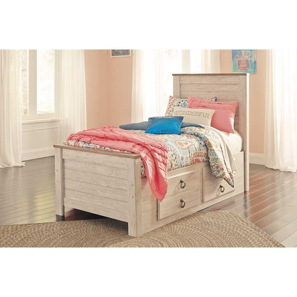 Best Willow Twin Storage Bed Twin Trundle Bed Ashley 640 x 480