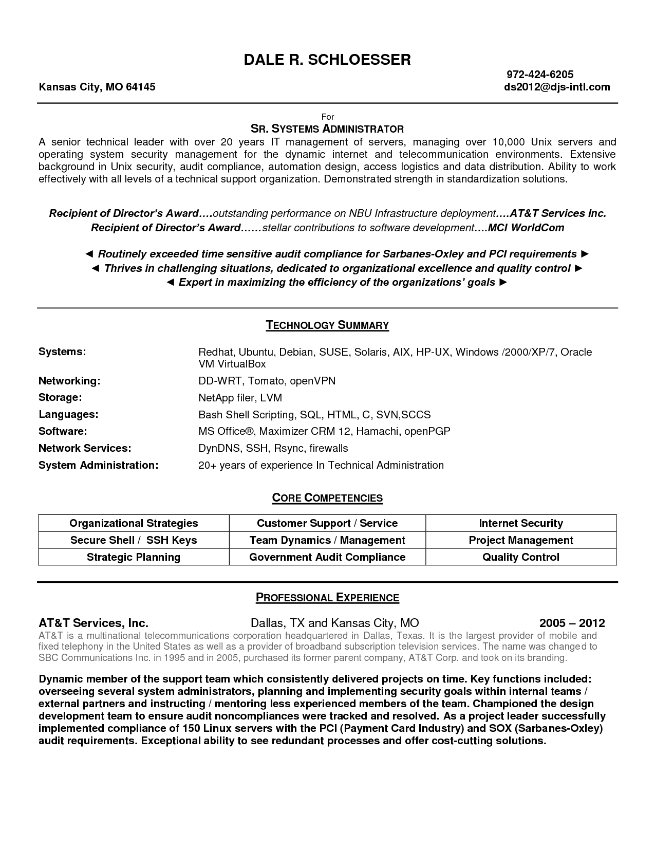 Control Room Operator Sample Resume Sle Resume Of System Administrator 28 Images Sle Aix System .