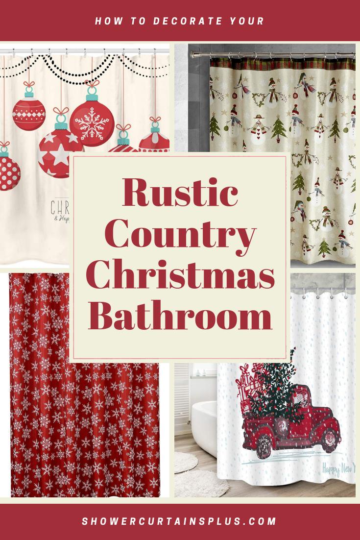 Rustic Country Christmas Bathroom Theme Christmas Bathroom