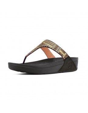38214132a Women Fitflop Aztek Chada Black Sandals Sale