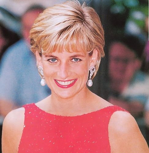 June 17, 1997:  Princess Diana prepares to address a gala benefit for victims of land mines at the National Museum of Women in the Arts in Washington, D.C.