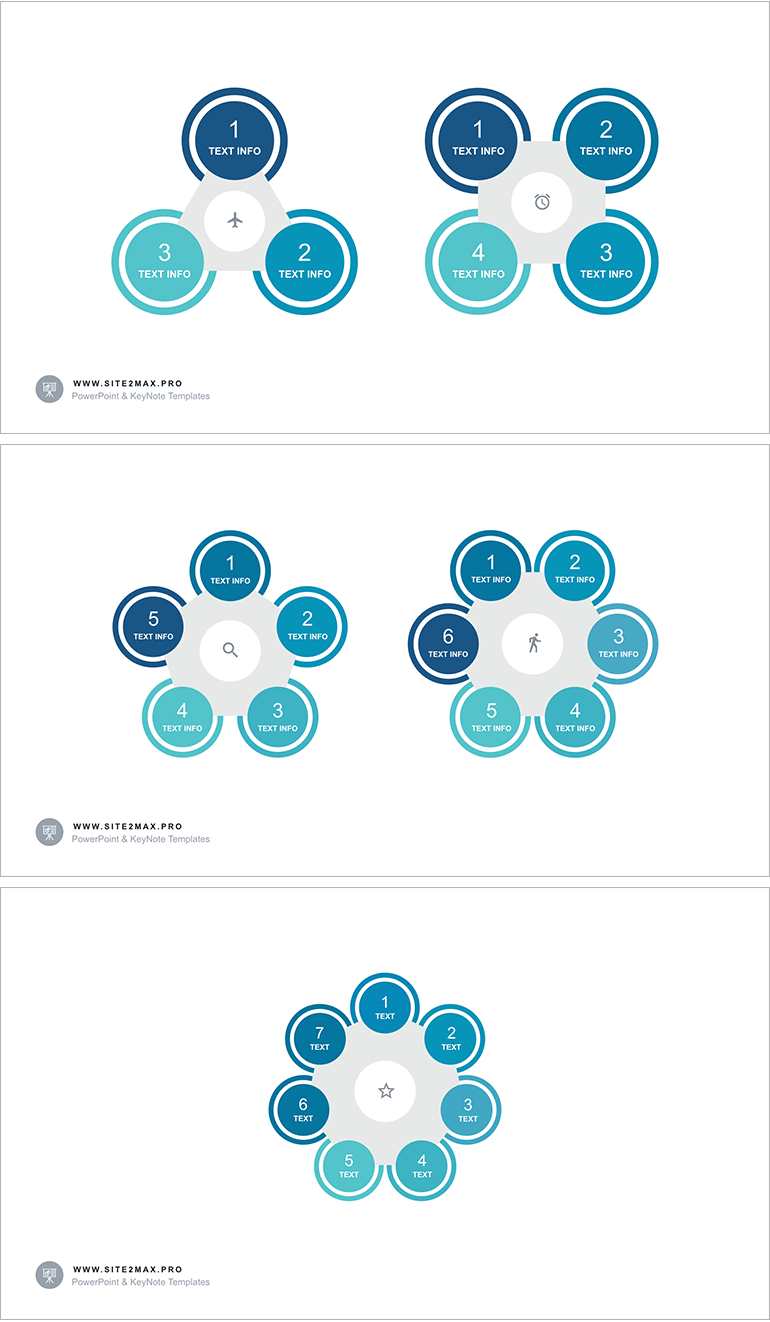 circle infographic ppt 5 step | powerpoint elements for presentation