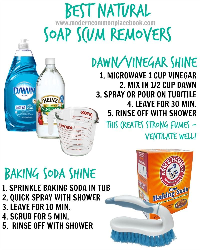 Tip Of The Week Natural Soap Scum Removers Home Pinterest