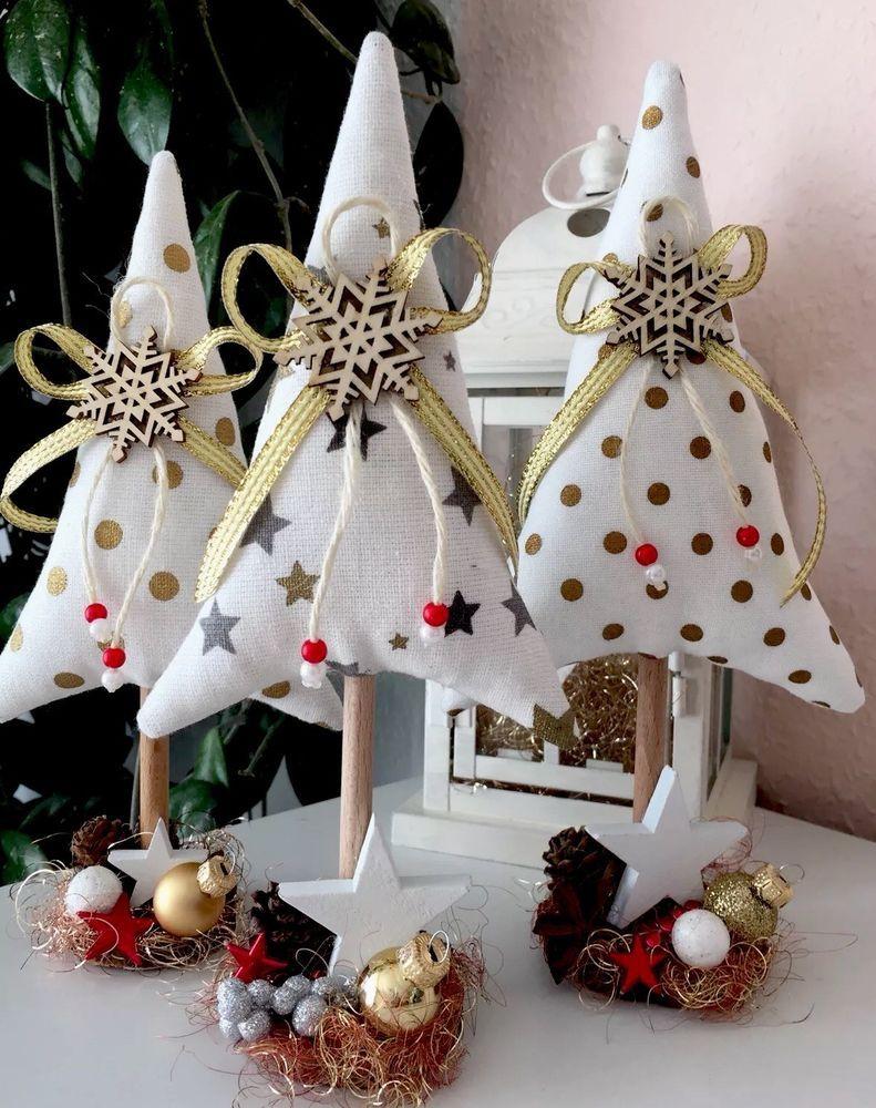 3 Tannenbäume Weihnachten Tilda Landhaus Deko  | eBay #rustikaleweihnachten