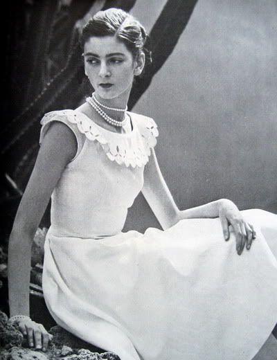 Carmen Dell'Orefice First Vogue Cover 1947 | Carmen Dell'Orefice ~ Young Summer Whites 1947