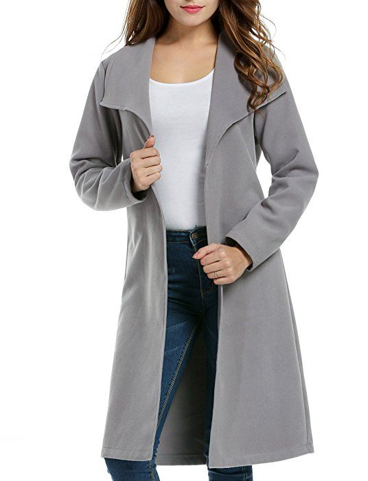 Damen Wollmantel Winter Und Mantel Coat Lang Revers Meaneor zVpMSUq