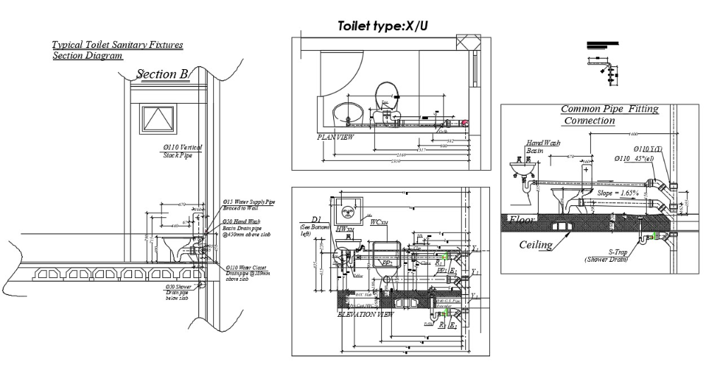 Complete Toilet Plan Drawing Autocad File In 2020 Toilet Plan Autocad How To Plan