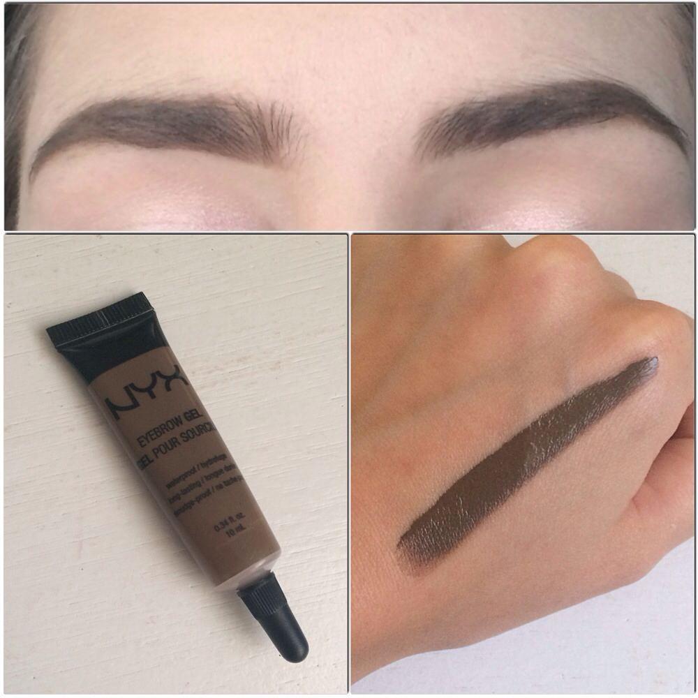 nyx makeup eyebrows. nyx eyebrow gel in brunette. follow my instagram @mellyfmakeup nyx makeup eyebrows