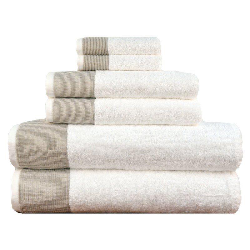 Claudine 6 Piece Turkish Cotton Towel Set Reviews Allmodern Towel Set Cotton Bath Towels Turkish Cotton Towels