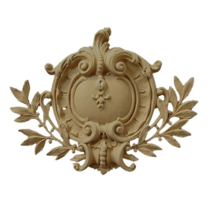 French Renaissance Shield Onlay 13 W X 9 1 2 H X 1 D Made To Order Not Returnable Minimum Order Amount 200 Furniture Appliques Onlay Wood Carving Patterns