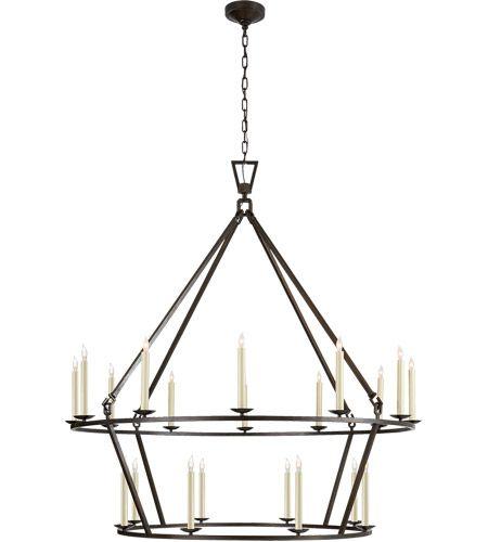 Visual Comfort Chc5199ai E F Chapman Darlana 20 Light 50 Inch Aged Iron Chandelier Ceiling